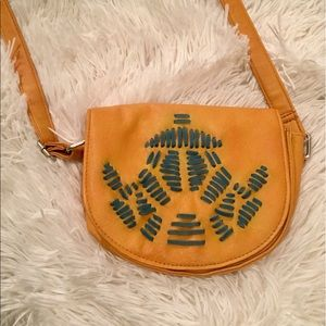 Handbags - Yellow Purse / Boho Mini